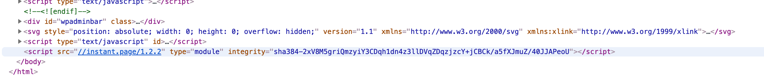 rendered HTML